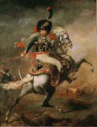 Theodore   Gericault Officer of the Imperial Guard (The Charging Chasseur) (mk09) painting